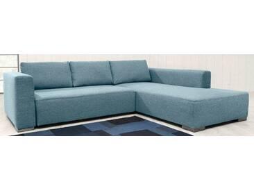 TOM TAILOR Polsterecke XL »HEAVEN STYLE COLORS«, wahlweise mit Bettfunktion und Bettkasten, blau, Struktur grob TCU