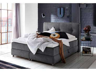 Atlantic Home Collection Boxspringbett mit Bettkasten und Topper, schwarz