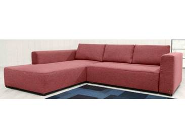 TOM TAILOR Polsterecke XL »HEAVEN STYLE COLORS«, wahlweise mit Bettfunktion und Bettkasten, rot, Struktur grob TCU
