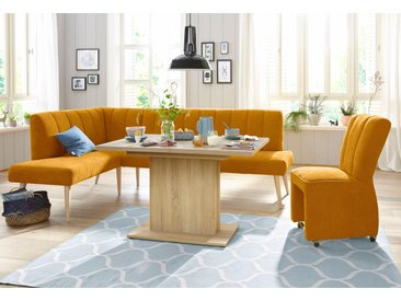 exxpo - sofa fashion Eckbank, gelb, Struktur