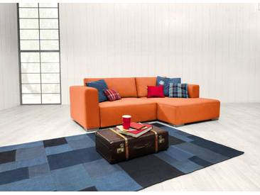 TOM TAILOR Polsterecke S »HEAVEN STYLE COLORS«, wahlweise mit Bettfunktion und Bettkasten, orange, Struktur fein TBO
