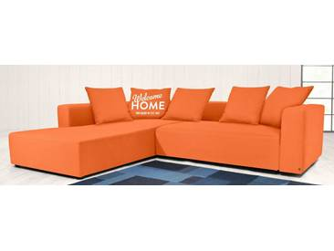 TOM TAILOR Polsterecke XL »HEAVEN CASUAL COLORS«, wahlweise mit Bettfunktion und Bettkasten, orange, Struktur fein TBO