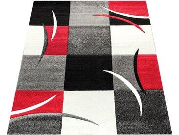 Läufer »Diamond 665«, Paco Home, rechteckig, Höhe 18 mm, 3D-Design, Kurzflor mit Karo Muster, rot