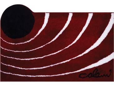 Badematte »Colani 2« Colani, Höhe 24 mm, rutschhemmend beschichtet, fußbodenheizungsgeeignet, rot, quadratisch 60x60 cm