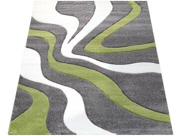 Läufer »Diamond 760«, Paco Home, rechteckig, Höhe 18 mm, 3D-Design, Kurzflor mit Wellen Muster, grün