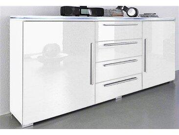 Sideboard, Breite 135 cm, Neckermann, weiß