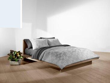 Wendebettwäsche »Monogram«, Calvin Klein home, mit Logo Druck, grau