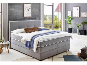 Atlantic Home Collection Boxspringbett mit Bettkasten und Topper, grau