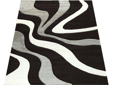 Läufer »Diamond 760«, Paco Home, rechteckig, Höhe 18 mm, 3D-Design, Kurzflor mit Wellen Muster, schwarz