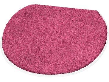Badematte »Soft« Kleine Wolke, Höhe 20 mm, rutschhemmend beschichtet, rosa, WC-Deckelbezug 47x50 cm