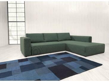 TOM TAILOR Polsterecke XL »HEAVEN STYLE COLORS«, wahlweise mit Bettfunktion und Bettkasten, grün, Struktur grob TCU