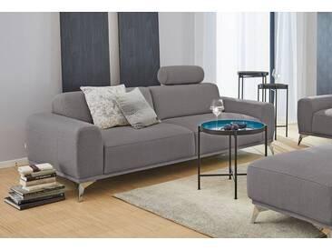 GMK Home & Living 3-Sitzer Sofa »Tea«, mit Kopfstütze, Guido Maria Kretschmer Home&Living, grau, Struktur