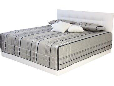 Westfalia Schlafkomfort Polsterbett »Ravenna«, wahlweise mit Bettkasten, weiß, 170 cm x 210 cm x 34 cm