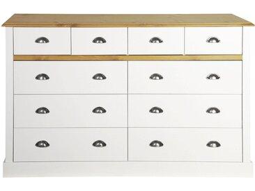 Home affaire Kommode »Sandringham« mit 10 Schubladen, Breite 144 cm, weiß