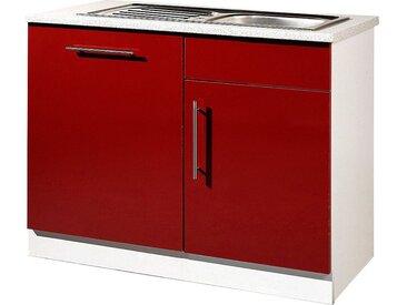 wiho Küchen Spülenschrank »Aachen«, rot