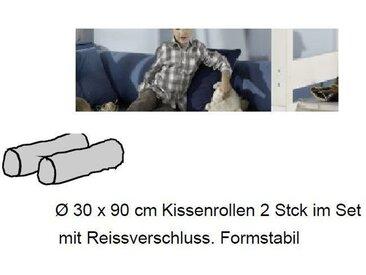 Kinderzimmer Water Etagenbett mit Bettkasten von Dolphin Moby, Kissenrollen, 2er Set (30x90cm)