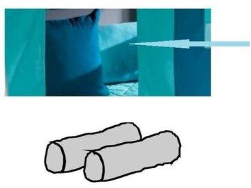 Kinderzimmer Unterwasserwelt - Halbhohes Bett mit Rutsche von Dolphin Moby, Kissenrollen -2er Set, aquamarine/dunkelcyan - 30 x 90 cm