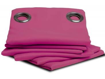Unifarbener blickdichter Vorhang in Pink - Moondream