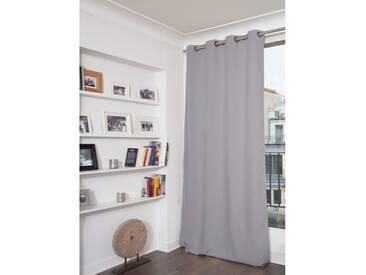 Unifarbener blickdichter Vorhang in Grau - Moondream