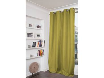 Blickdichter Vorhang mit Beschichtung in Grün - Moondream
