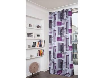 Fantasie blickdichter Vorhang in Violett - Moondream