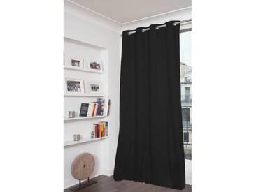Blickdichter Vorhang mit Beschichtung in Schwarz - Moondream
