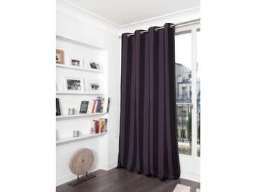 Blickdichter Vorhang mit Streifenmuster in Violett - Moondream