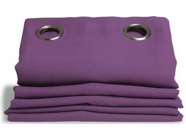 Blickdichter Vorhang mit Baumwoll-Piqué-Optik in Violett - Moondream