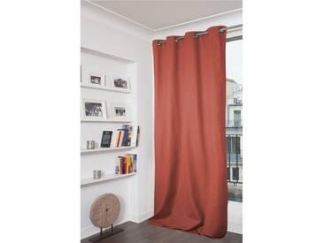 Blickdichter Vorhang mit Beschichtung in Rot - Moondream