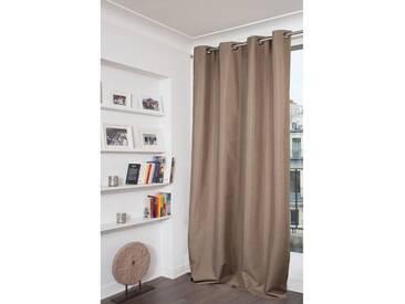 Blickdichter Vorhang mit Beschichtung in Braun - Moondream