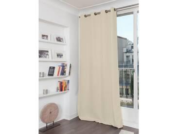 Blickdichter Vorhang mit Baumwoll-Piqué-Optik in Weiß - Moondream