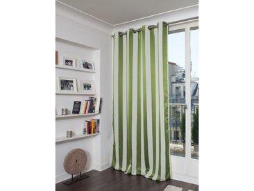 Blickdichter Vorhang mit Streifenmuster in Grün - Moondream