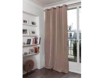 Blickdichter Vorhang mit Stoff-Optik in Beige - Moondream