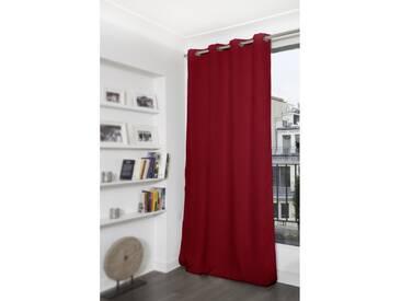 Unifarbener blickdichter Vorhang in Rot - Moondream