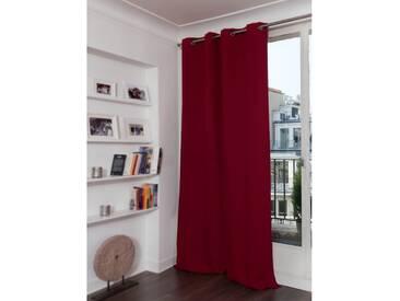 Blickdichter Vorhang mit Baumwoll-Piqué-Optik in Rot - Moondream