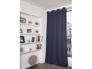 Unifarbener blickdichter Vorhang in Blau - Moondream