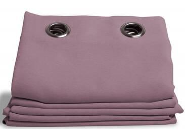 Verdunklungsvorhang mit Leinen-Optik in Violett - Moondream