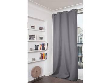 Blickdichter Vorhang mit Beschichtung in Grau - Moondream