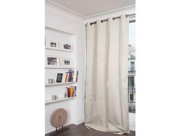 Blickdichter Vorhang mit Beschichtung in Beige - Moondream