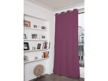 Unifarbener blickdichter Vorhang in Violett - Moondream