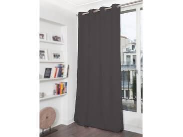 Blickdichter Vorhang mit Baumwoll-Piqué-Optik in Grau - Moondream