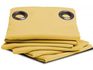 Unifarbener blickdichter Vorhang in Gelb - Moondream