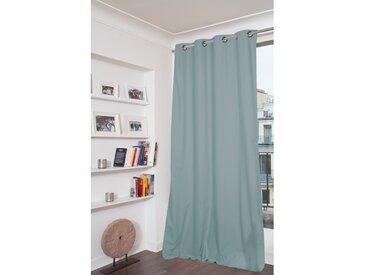 Blickdichter Vorhang mit Beschichtung in Blau - Moondream