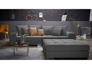 Big Sofa Valerie anthrazit Samtoptik 280 x 110 cm