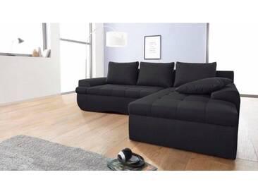 Sofa Ina schwarz Flachgewebe 267 x 184 cm