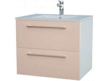 Waschtischunterschrank Bijapur 15, Farbe: Beige glänzend – 50 x 62 x 47 cm (H x B x T)