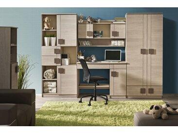 Jugendzimmer - Schrank Elias 02, Farbe: Hellbraun / Braun- Abmessungen: 187 x 80 x 40 cm (H x B x T)