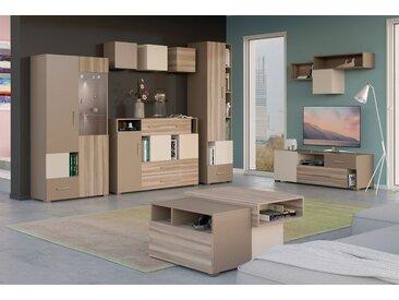 Jugendzimmer Komplett - Set E Roland, 9-teilig, Farbe: Braun, teilmassiv