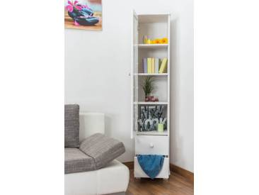 Vitrine Landhaus-Stil, Kiefer Massivholz, Farbe: Weiß, Breite: 40 cm