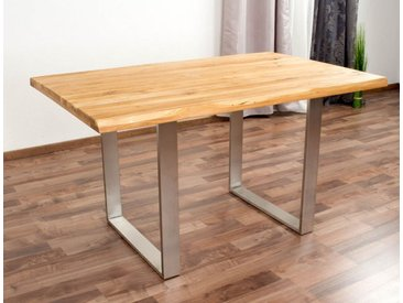 Esstisch Wooden Nature 412 Eiche massiv geölt, Tischplatte glatt - 140 x 90 cm (B x T)
